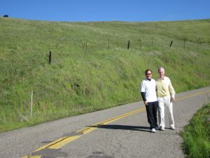 Phil and I on our continued journey in the Foothills near Hensley Lake, March 2011