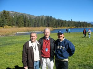 Phil Dodd, Tim Henry and me at Hume Lake Men's Retreat,  October 2010