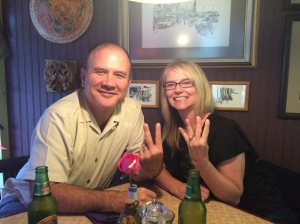 """""""Twenty-four""""... Celebrating our 24th year of marriage at the Wild Ginger Restaurant in Cambria, CA"""