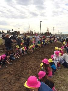 Ground Breaking for the new Clovis Hills Community Church Playground, Winter 2014