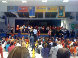 Typical Garfield Elementary Awards Ceremony. Standing Room only for the parents...