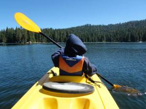 Canoeing on Lake Sequoia