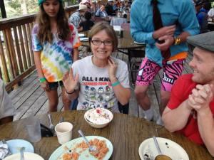 Celebrating Leah's birthday at Dinner!