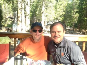 Mike Ringer and me on the Dining Hall Porch
