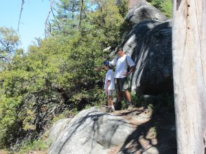 Dr. Utecht, Chief Quality Officer from CMC, pointing out the sites from Viola Falls to Andrew, Matt's son