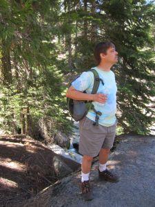 Matt Ward on Hike from Panoramic Point