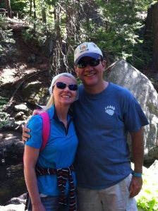 Me and Leah pose at Ella falls on a hike in 2013