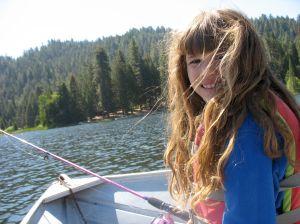 Gigi and I out on the lake fishing