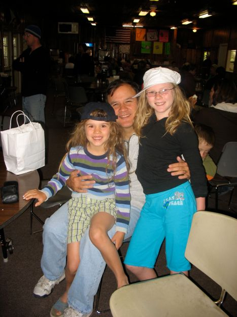 Celebrating Father's Day in 2009 with the two girls that I have the blessing to call my daughters