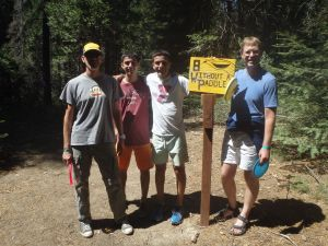 My fellow Disc Golf Competitors at Hole 8