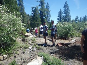 At the crest of the trail before heading down to Millwood Flats