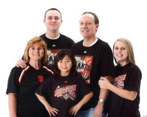 The Molly Griffin Family Doris, Joe, Paige, Doug and Molly Go Giants!