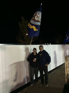 Jason and Jerry at the Wall of Remembrance in November 2014