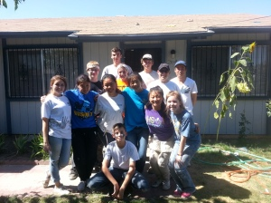 Jason serving with World Changer teens helping repair house in SE Fresno