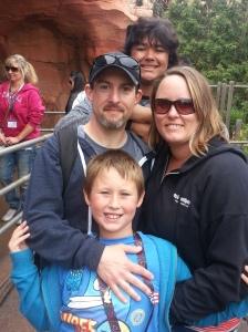 Newsome Family in Disneyland
