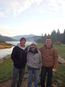 Brian Winter, Jason Newsome and Bobbie Winter at the Fall '14 Men's Retreat