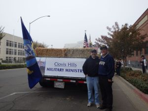 Jason and Jerry at the CHCC Military Ministry Veterans Day Parade Float