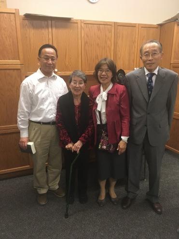 Rev Enomoto, Mom, Mrs. Fujii, and Pastor Hajimu