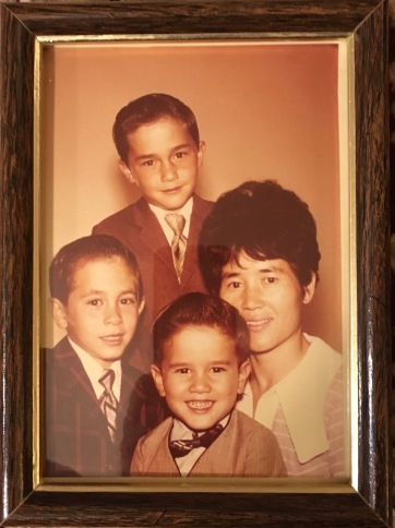 Don, Ron, me and Mom, c.1969